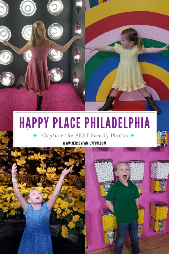 Collage of family photos from Happy Place Philly