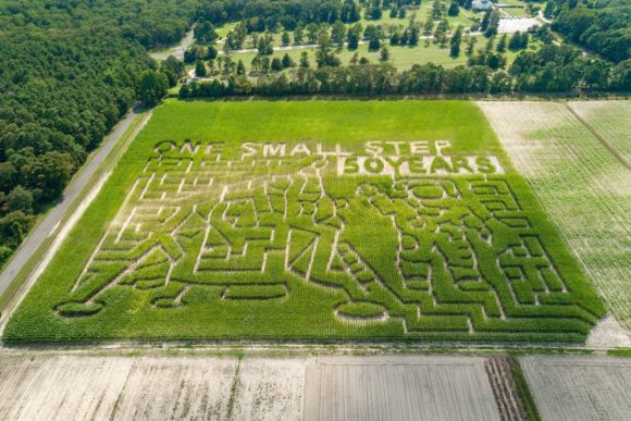 2019 Corn maze design for sahls father son farm in Galloway New Jersey