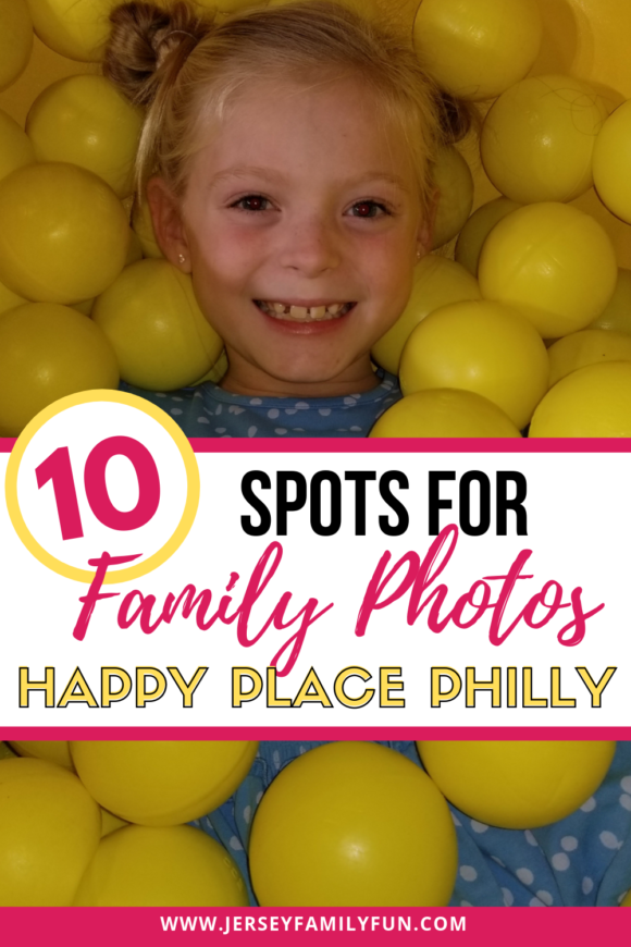 Happy Place Philadelphia girl in yellow ball pit