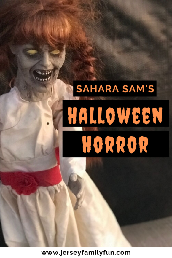 scary doll from Sahara Sam's Halloween Horror