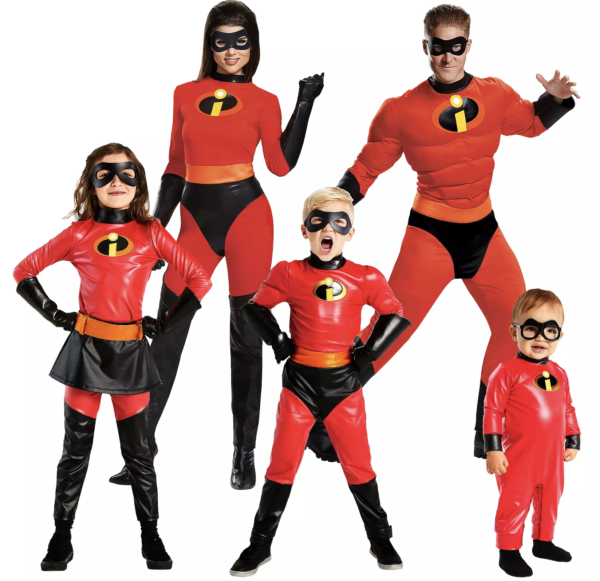 Incredibles 2 Costume Collection for families