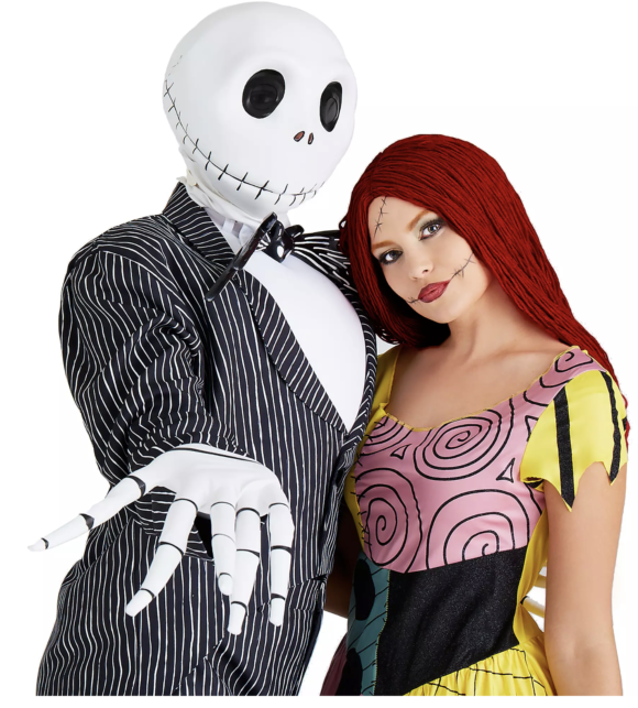 Jack Skellington and Sally Halloween Costume for adults