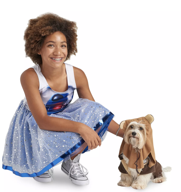 R2D2 Dress costume with Ewok Costume for Pets by Rubie's – Star Wars