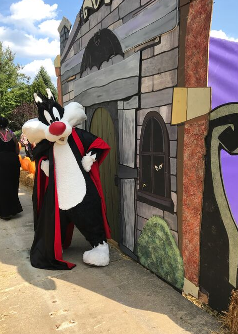 Sylvester the cat at Great Adventure Halloween Activities