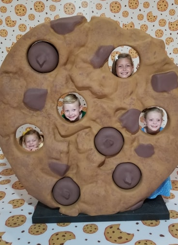 kids in a chocolate chip cookie at Happy Place King of Prussia