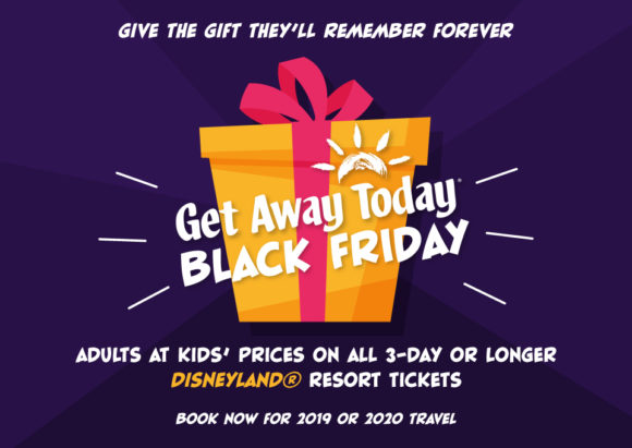 Get Away Today black friday deals on Disneyland tickets