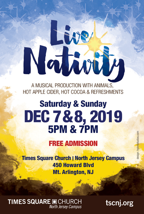 TSC North Jersey flyer for their Live Nativity