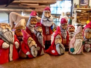 Tuckerton Seaport Santa Wood Carving