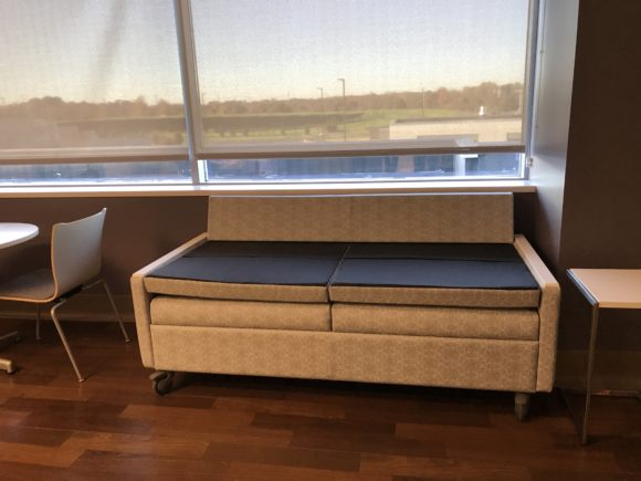 Inspira Medical Center Mullica Hill delivery room couch bed