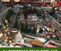 Christmas train displays in New Jersey