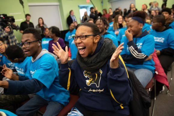 Comcast Digital Inclusion Rally Pennsylvania School for the Deaf african american student