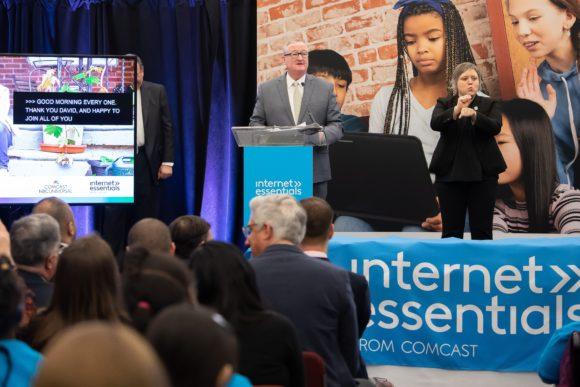 Comcast Digital Inclusion Rally Philadelphia Mayor Jim Kenney