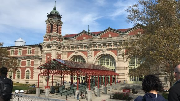 The front view of Ellis Island Museum of Immigration
