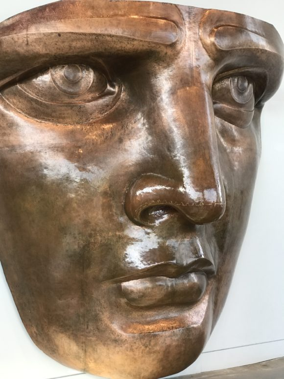 Replica bronze face from the Statue of Liberty