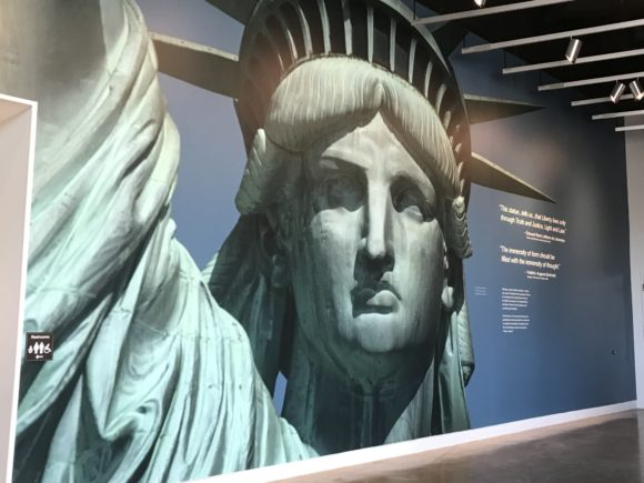 Mural at the Statue of Liberty Museum