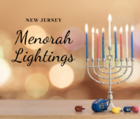 New Jersey Hanukkah events with Menorah Lightings