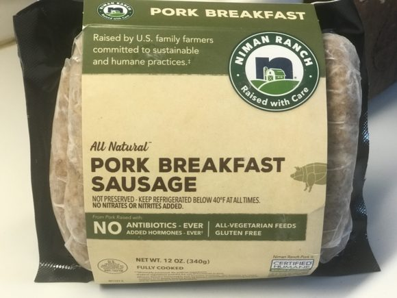 Niman Ranch Uncured Pork Breakfast Sausage delivered frozen from Perdue Farms