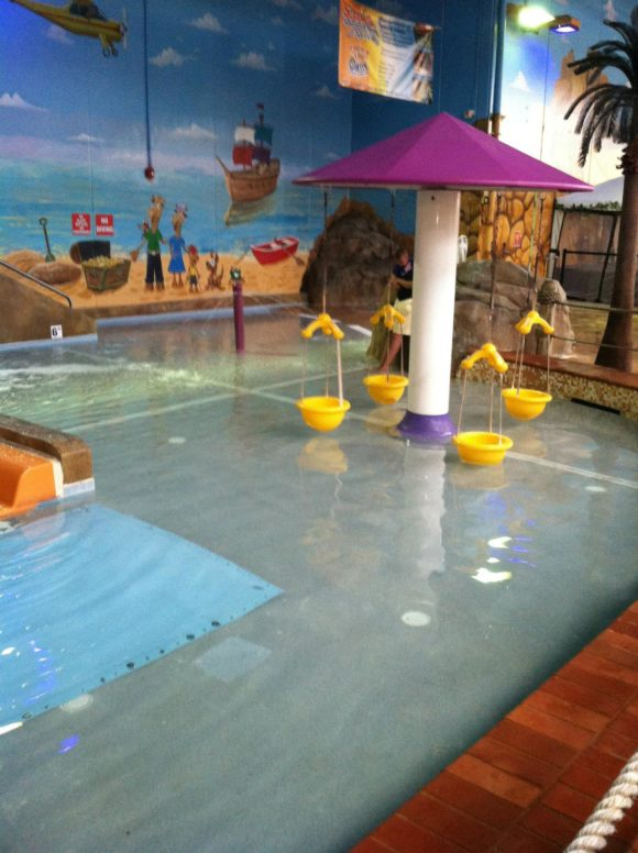 Sahara Sam's baby area and toddler area is named Lizard Lagoon and contains bucket swings and water fountains