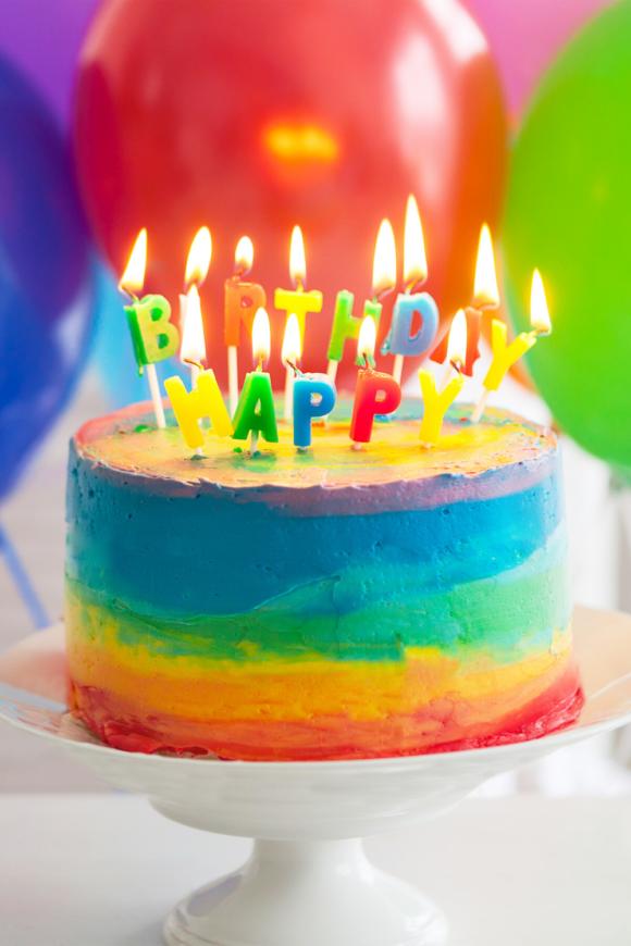 multicolor Birthday cake