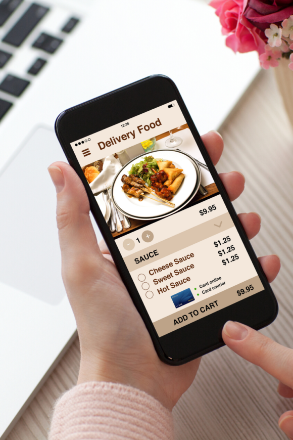 ordering food with a mobile phone