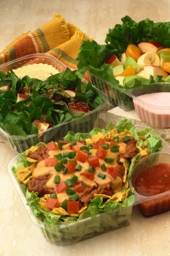 different foods in take out containers