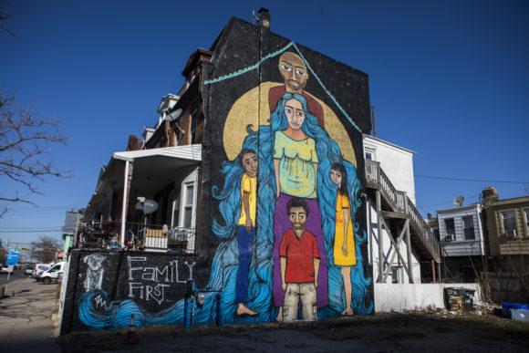 Atlantic City Family First mural by Alice Mizrachi
