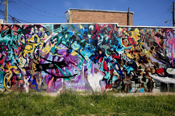 Atlantic City Mural Study in Interconnectivity by LUV ONE
