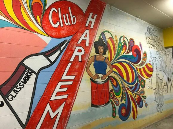 Another portion of the mural located in the Noyes Museum Arts Garage garage. It may be the largest mural in Atlantic City.