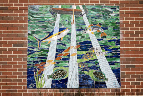 Atlantic City mural Joy to the Fishes in the Deep Blue Sea by TERE DOEBLEY LYNDA DONOVAN