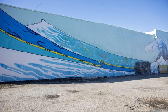 Atlantic City mural Save Our Oceans by SHARI TOBIAS