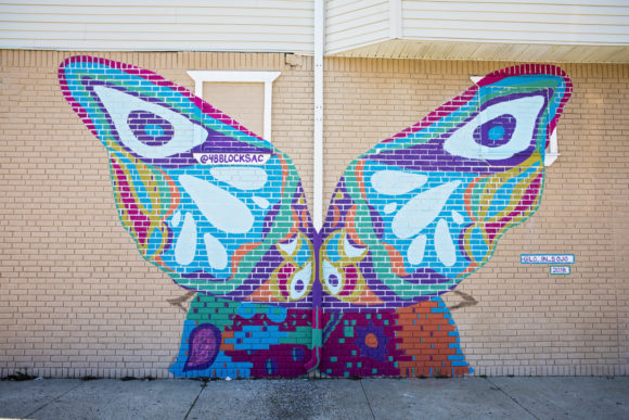 atlantic city butterfly mural