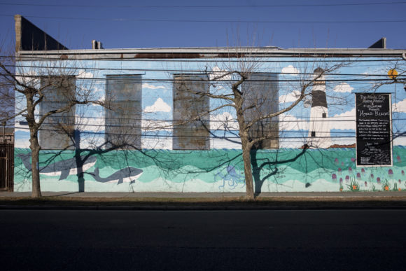 Atlantic City mural at the rescue mission Hope's Beacon by DARA HESTON ET AL