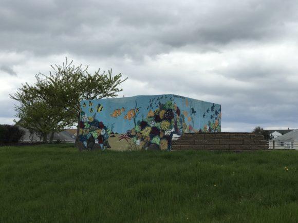 LINDA BRISCO HARPER ET AL Aquarium Mural in Atlantic City