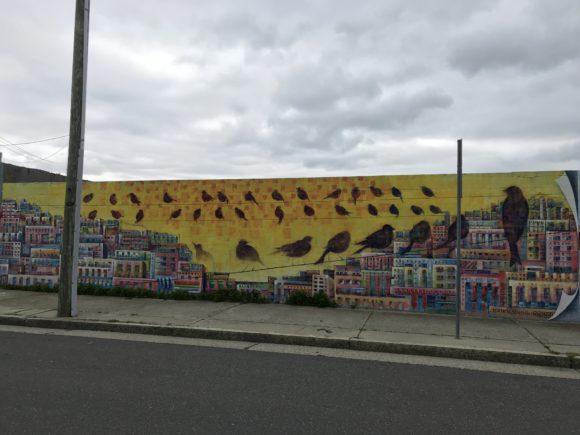 Personal Space mural in Atlantic City Painted by Charles Barbin in 2020.