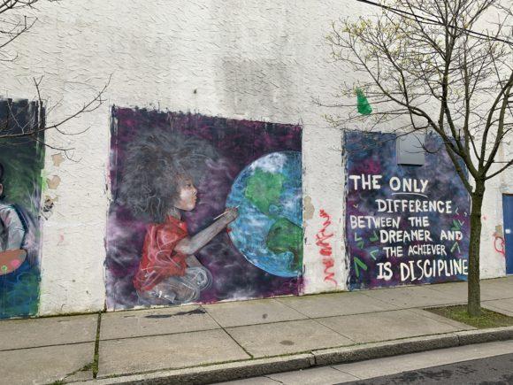 Discipline mural painted by Blockheads Custom. Located in Atlantic City.