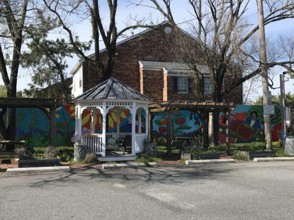 Community garden mural at church in Atlantic City.