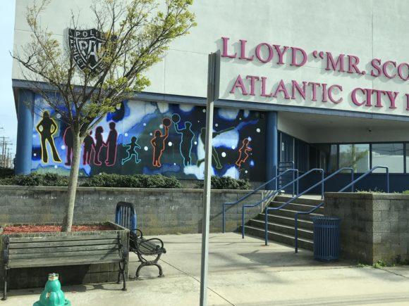 Atlantic City PALS building murals on Mediterranean Avenue.
