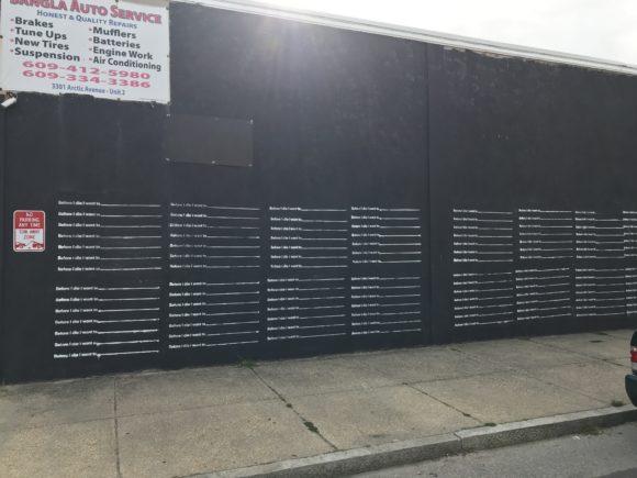 Before I die mural painted by Genesis Sandoval in Atlantic City.