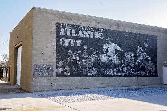 CHRISTIAN CORREA LEAH MORGAN The Spirit of Atlantic City mural