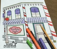 colored in Iplay America Coloring Pages Candy Store