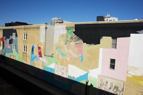 JOHANNES MUNDINGER SOPHIE HIRSCH Untitled mural in Atlantic City