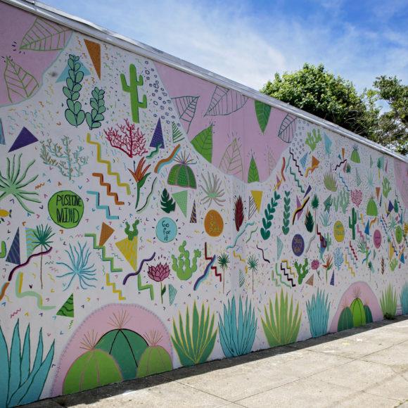 Bright Skies mural in Atlantic City
