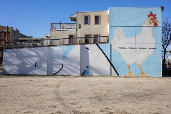 MARK CHU Ga chicken mural in Atlantic City