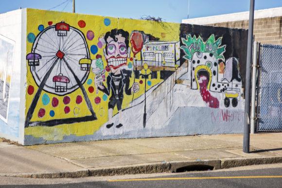 MIKEY WHORROR Atlantic City Funhouse Mural in Atlantic City