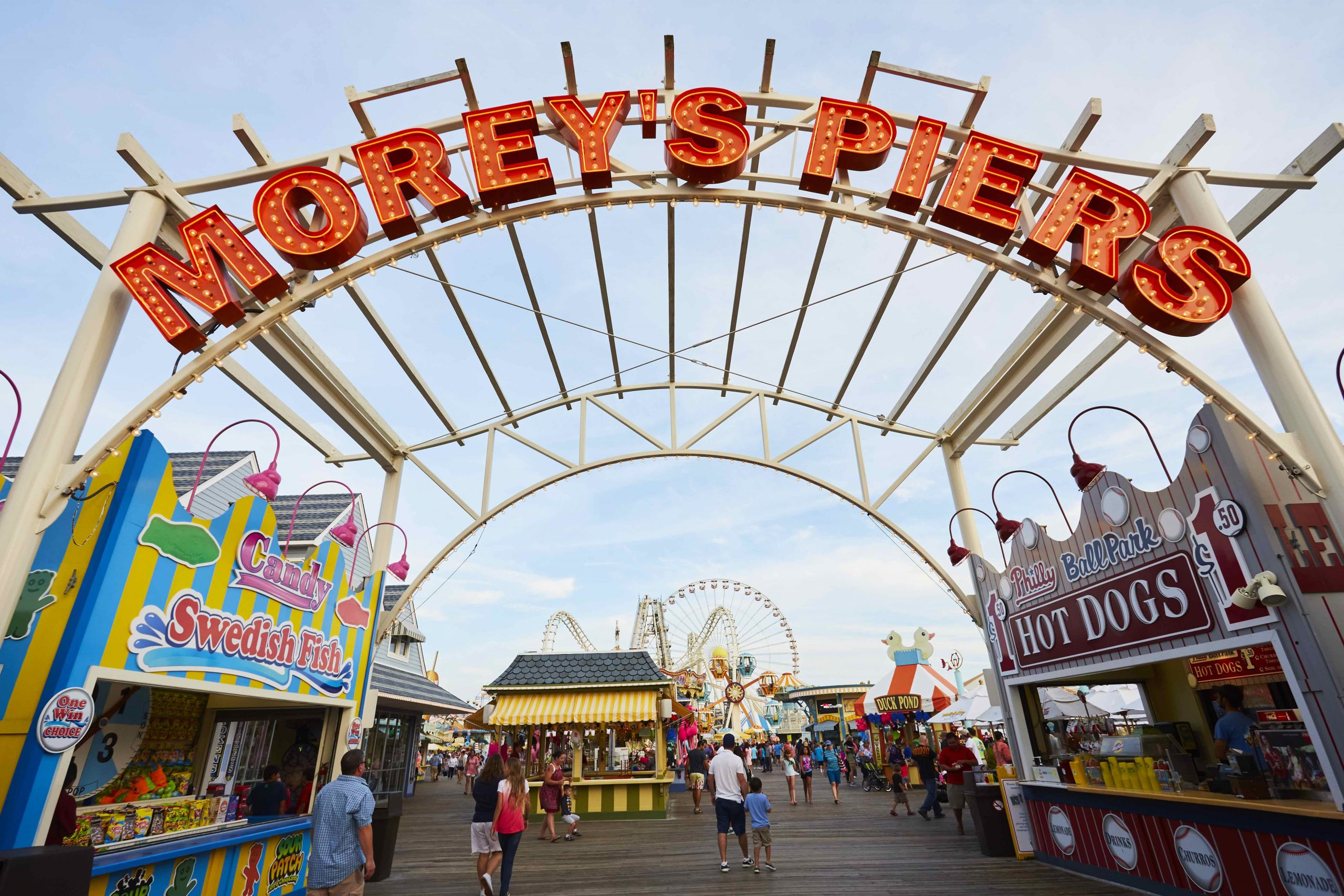 Morey's Piers entry arch