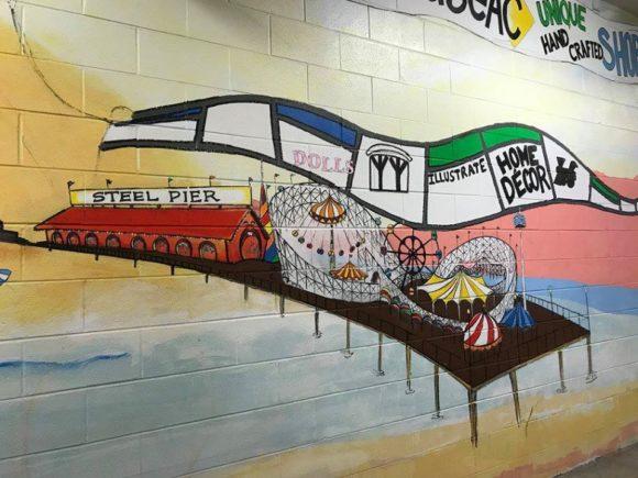 Atlantic City Murals in the Noyes Museum Arts Garage garage