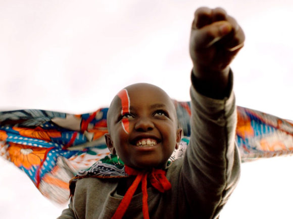 "Child from award-winning feature film, ""Supa Modo,"" from Kenya."