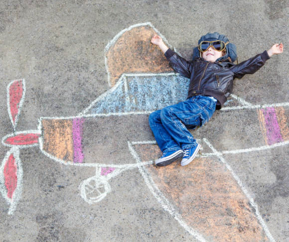 chalk the walk ideas - airplane