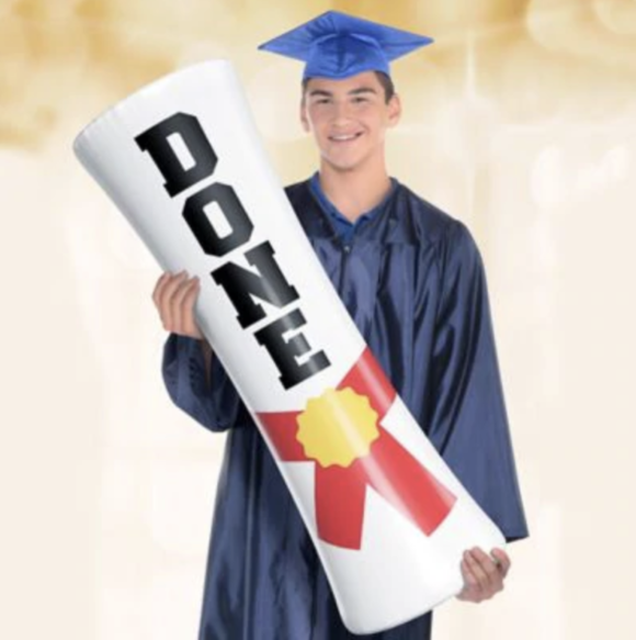 inflatable diploma from party city
