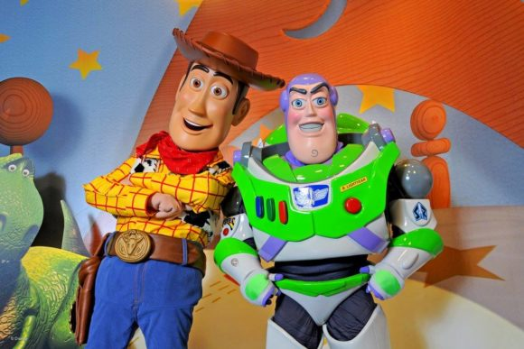 Buzz Lightyear and Woody at Toy Story Land ready to welcome guests when walt disney world opens.